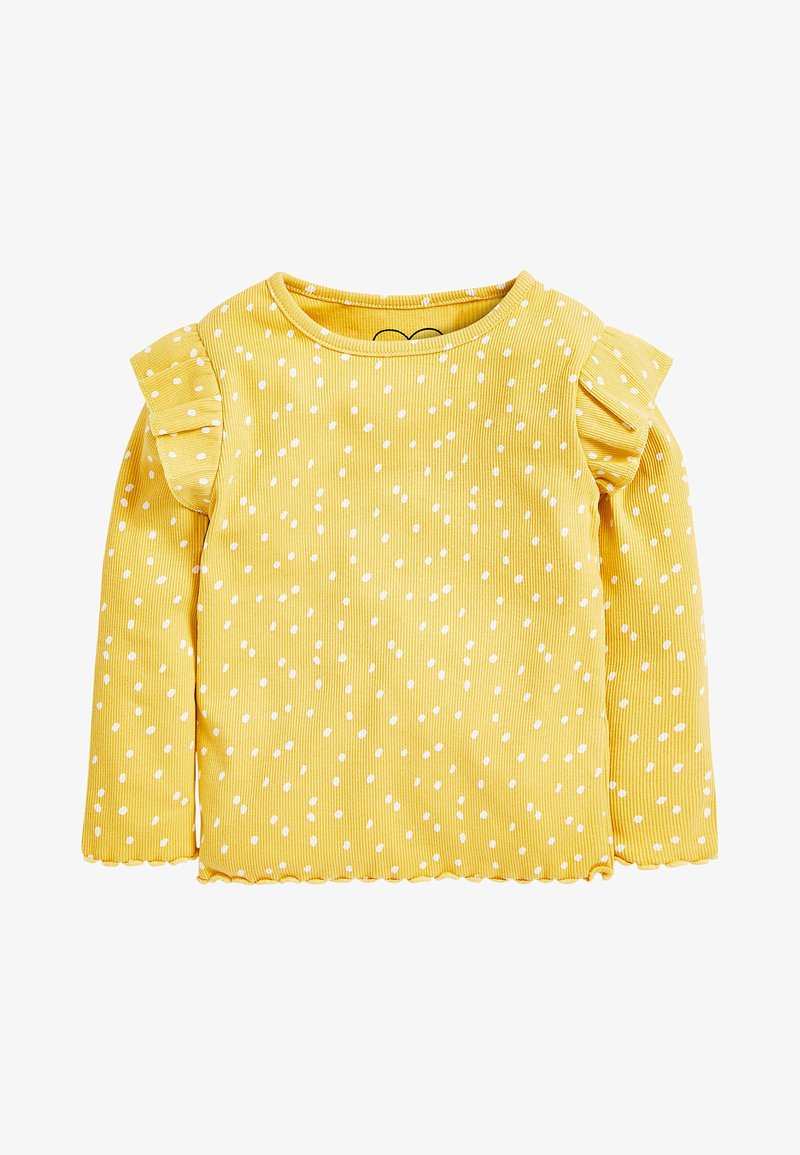 Next - RIB FRILL LONG SLEEVE - Long sleeved top - ochre