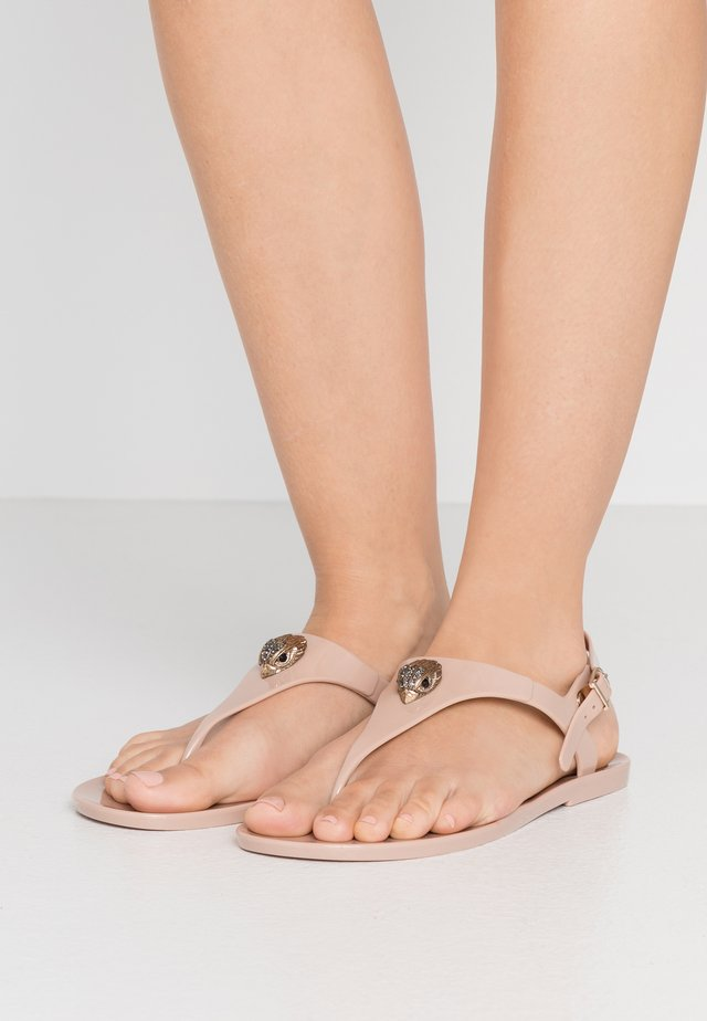 MADDISON - T-bar sandals - nude
