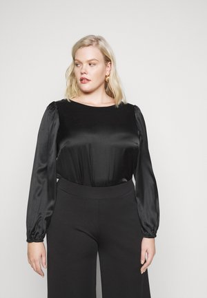 VMMADDIE BUTTON - Blouse - black