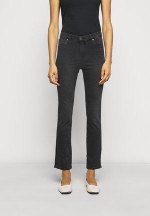 THE MARI SLIM STRAIGHT - Jeans Slim Fit - black denim