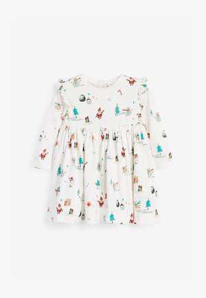 CHRISTMAS PRINT  - Jersey dress - off-white