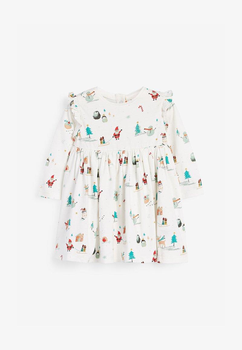 Next - CHRISTMAS PRINT  - Jersey dress - off-white