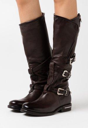 Stivali texani / biker - fondente/testa di moro