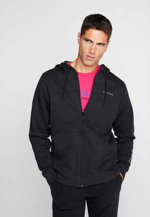 LOGO - Mikina na zip - black/city grey