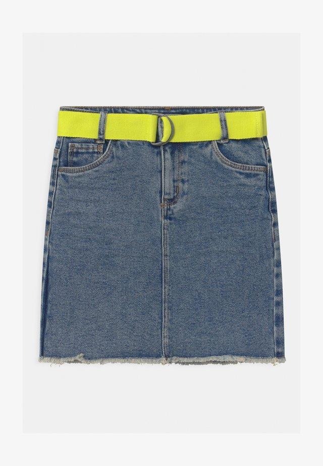 NKFATINO - Mini skirt - medium blue denim