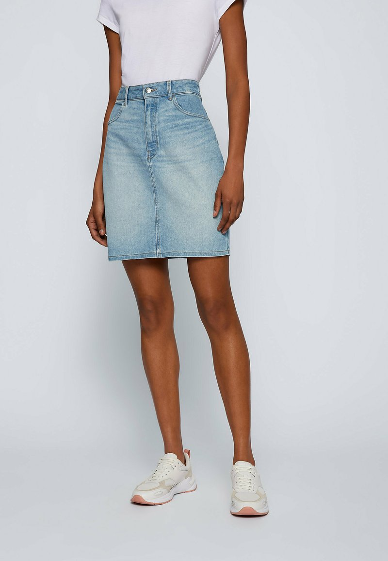 BOSS - Pencil skirt - turquoise