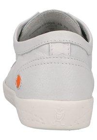 Softinos - Sneakers laag - white/yellow elastic - 3