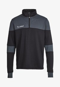 Hummel - SIRIUS HALF  - Fleece jumper - black/dark slate - 0