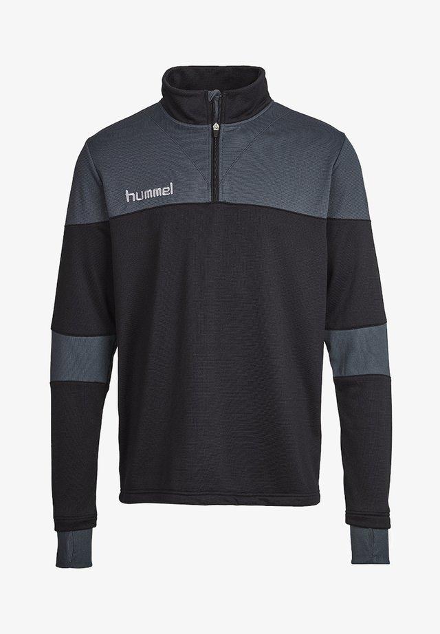 SIRIUS HALF  - Fleece jumper - black/dark slate