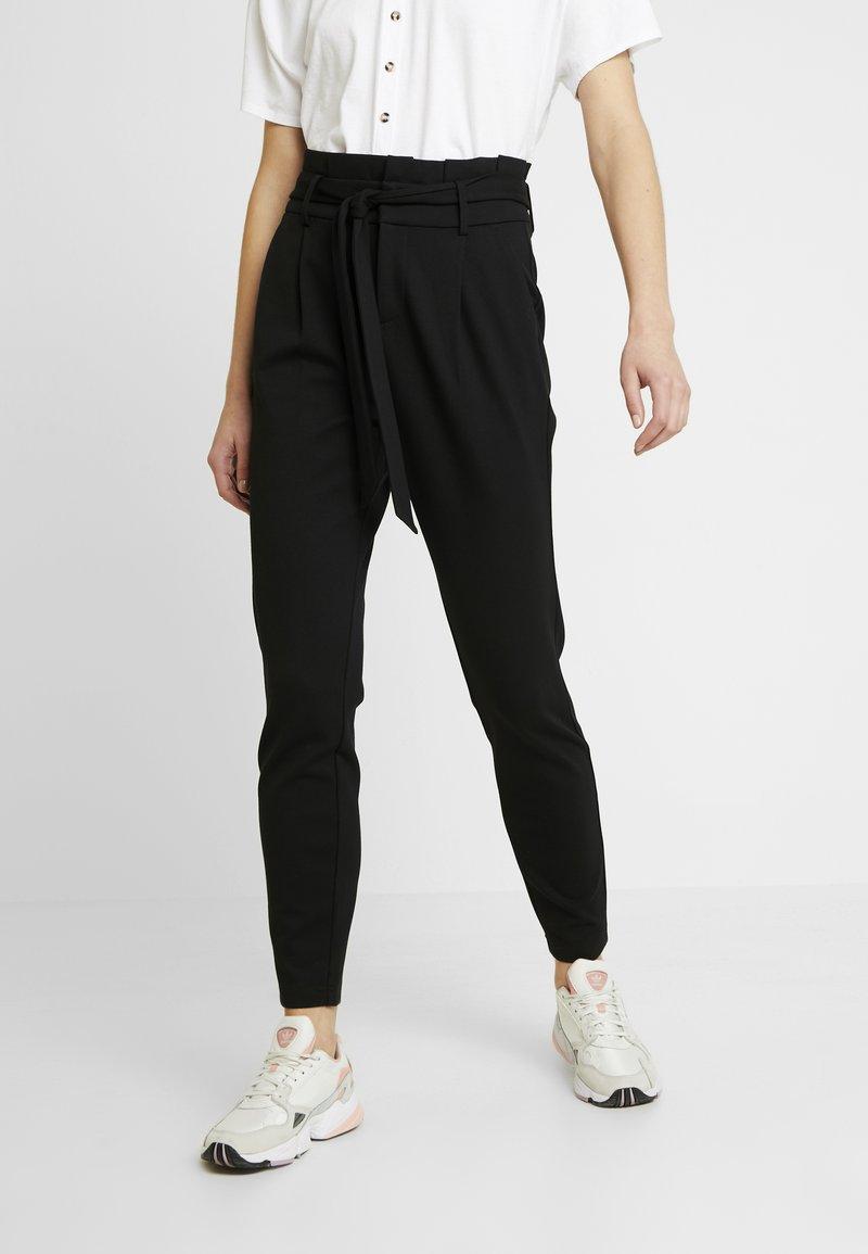 ONLY - ONLPOPTRASH EASY PAPERBAG PANT - Trousers - black