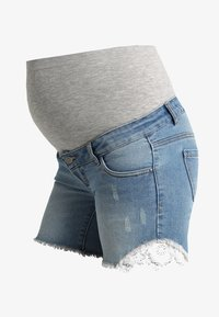 MAMALICIOUS - MLCASIS - Szorty jeansowe - light blue denim - 3