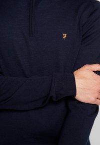 Farah - REDCHURCH ZIP EXTRA FINE - Stickad tröja - true navy - 5