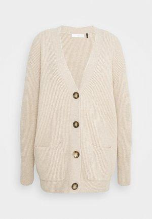 VICTORIA LONG - Cardigan - beige