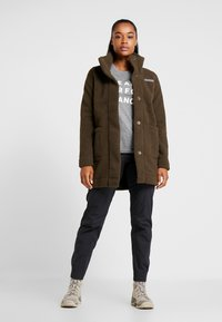 Columbia - PANORAMA LONG JACKET - Fleecová bunda - olive green - 1