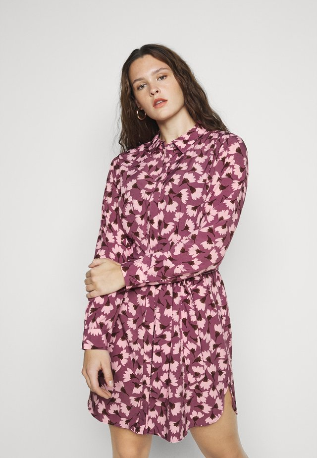 Robe chemise - magenta