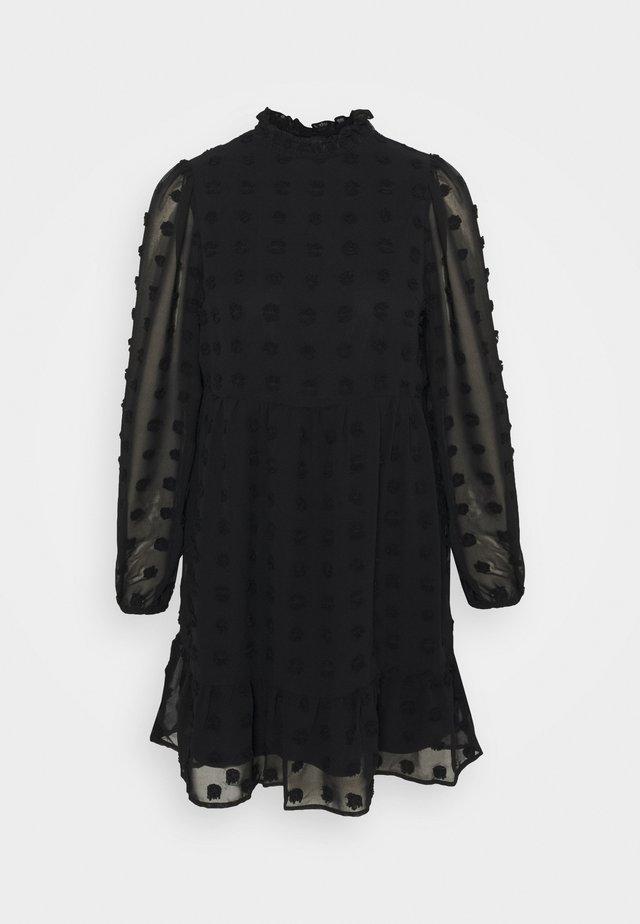 VMFLUFFY TURTLENECK DRESS - Day dress - black