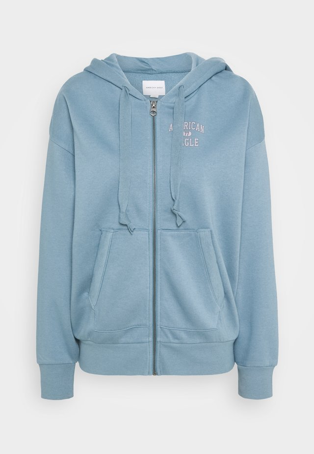 BRANDED FULL ZIP - Felpa aperta - blue