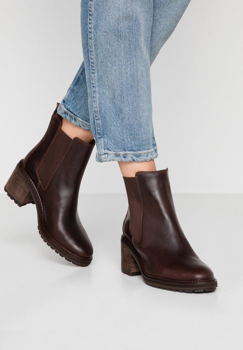 Timberland - SIENNA HIGH CHELSEA - Classic ankle boots - dark brown
