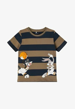 SPACE JAM - Print T-shirt - stone gray