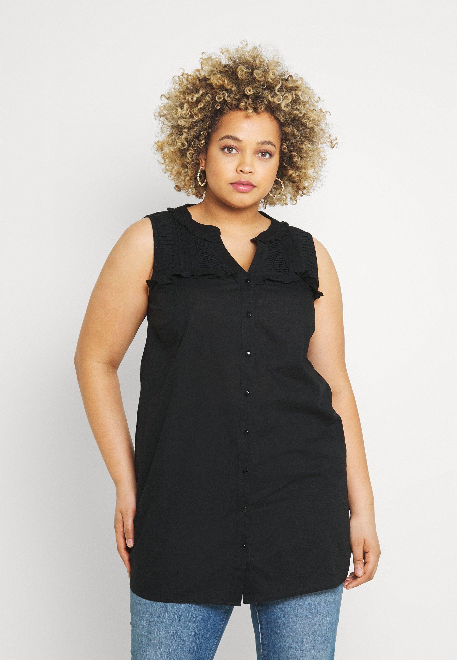 Femme MAMBER TUNIC - Blouse - black