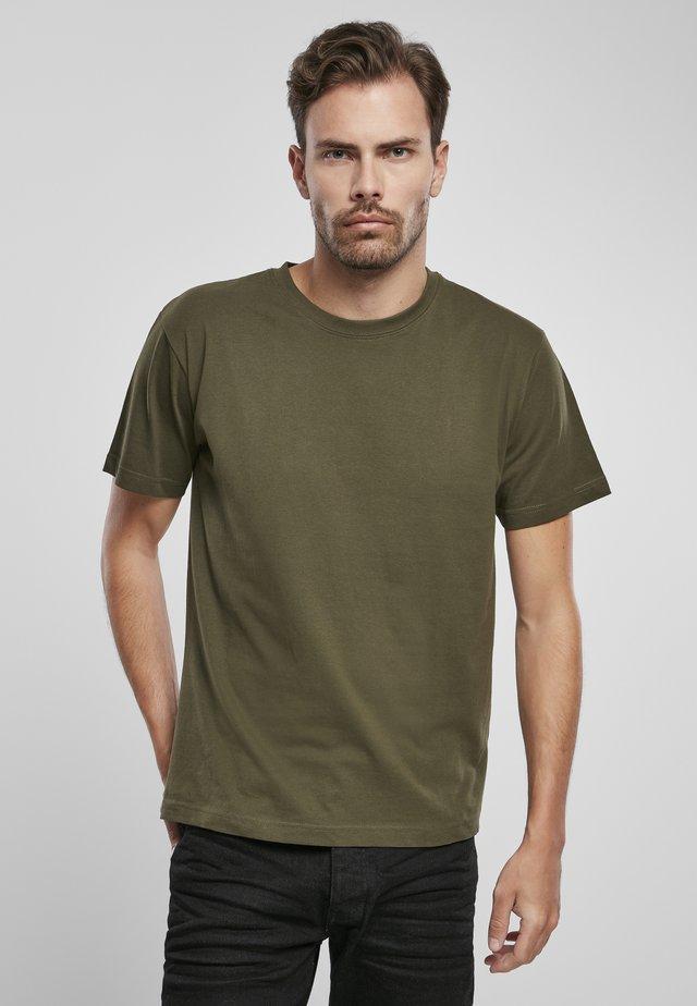 Jednoduché triko - olive