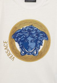 Versace - MONO MEDUSA AMPLIFIED UNISEX - Print T-shirt - white/blue/oro - 2