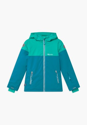 GIRLS HALLINGDAL - Snowboard jacket - light petrol/dark mint/white