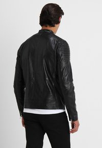 Solid - TOPPER - Veste en cuir - black - 2