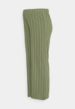 STRIPE - Trousers - dusty olive