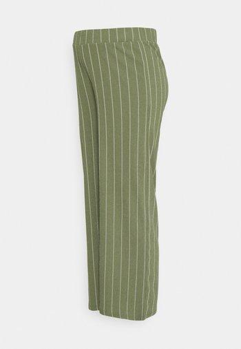 STRIPE - Trousers - dusty olive