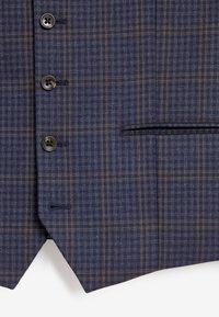Next - CHECK SUIT - Suit waistcoat - blue - 2