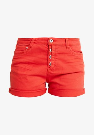 CAJSA - Denim shorts - brilliant red