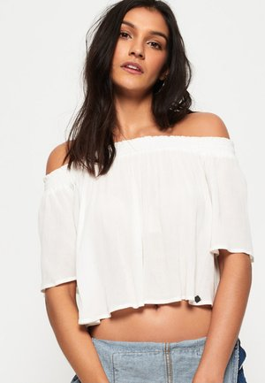 ALIA OFF SHOULDER - Blouse - white