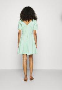 Closet - PLEATED SLEEVE SKATER DRESS - Jersey dress - mint - 2