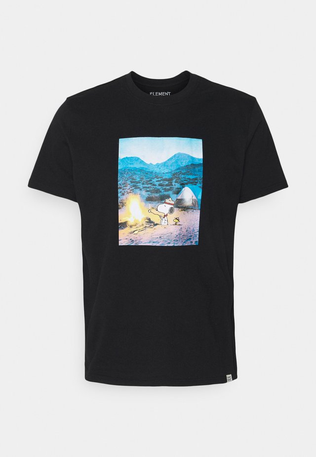 PEANUTS ADVENTURE - Print T-shirt - flint black