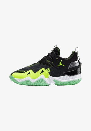 WESTBROOK ONE TAKE - Basketbalové boty - black/volt-white-green glow