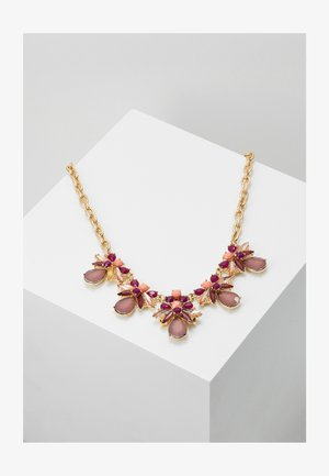 PCALLINA STONE NECKLACE - Halsband - gold-colour/red