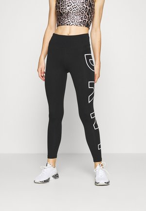 HIGH WAIST LONG LINE LEGGING - Punčochy - black/white