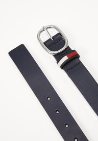 Tommy Jeans - OVAL FLAG INLAY BELT  - Belt - blue - 1