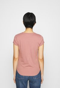 Abercrombie & Fitch - KNOTTED MIDI - Jednoduché triko - pink - 2