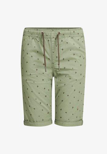 MET PRINT - Shorts - army green