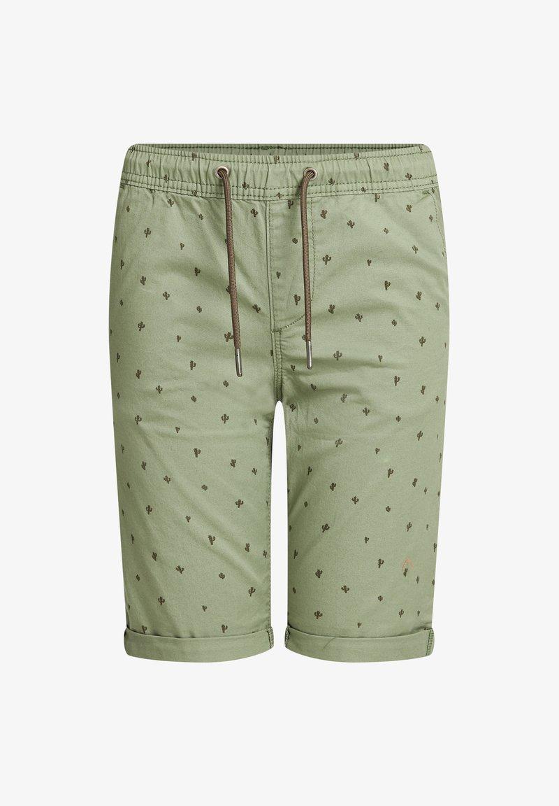 WE Fashion - MET PRINT - Shorts - army green