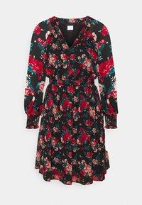 VIBROOKLY DRESS - Košilové šaty - black/jester red