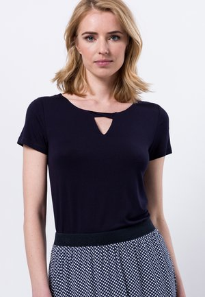 MIT RUNDHALSAUSSCHNITT - Print T-shirt - dark blue