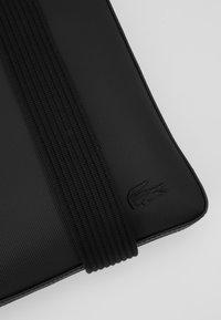 Lacoste - FLAT CROSSOVER BAG - Across body bag - black - 8