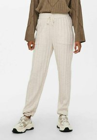 ONLY - LOOSE FIT - Tracksuit bottoms - pumice stone - 0