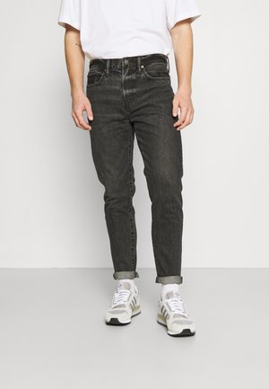 WASH DAD SINGLE CUFF - Jeans Tapered Fit - faded black