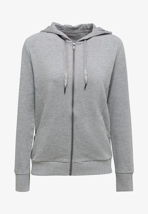 MIT BIO-BAUMWOLLE - Zip-up hoodie - medium grey