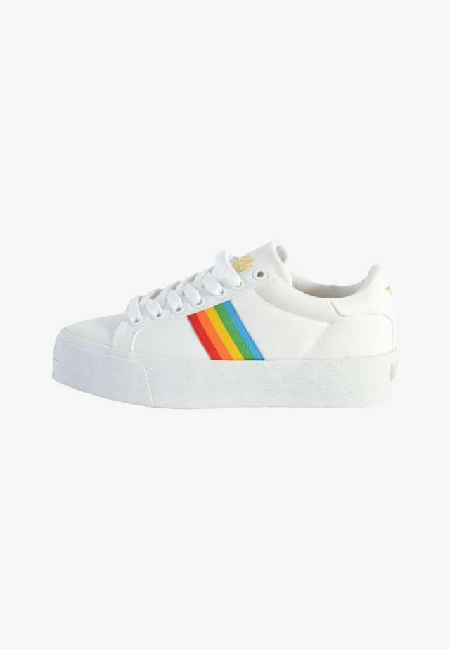 BASKET GOLA ORCHID PLATFORM RAINBOW - Baskets basses - white