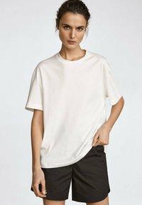 Massimo Dutti - MIT PATCH - T-shirt imprimé - white - 3